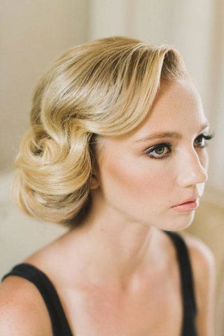 vintage bridesmaid hair