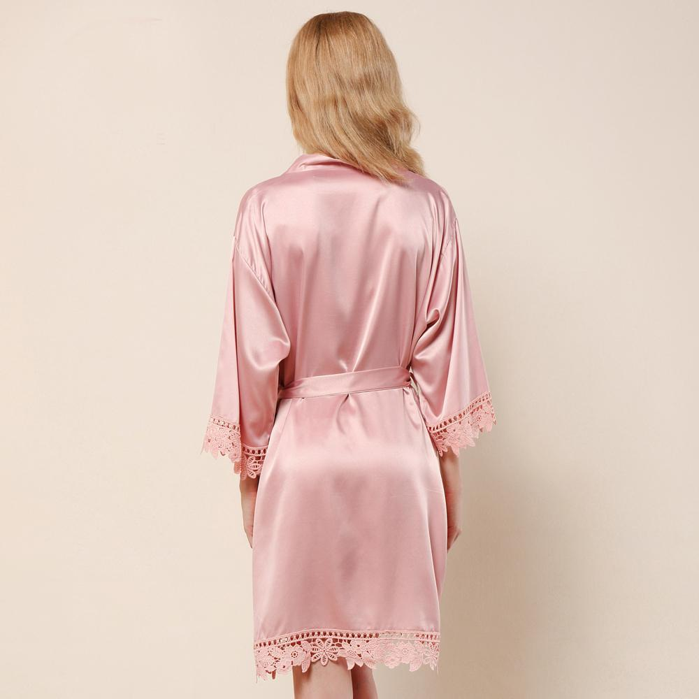 Bridal Rosie Lace Satin Robe