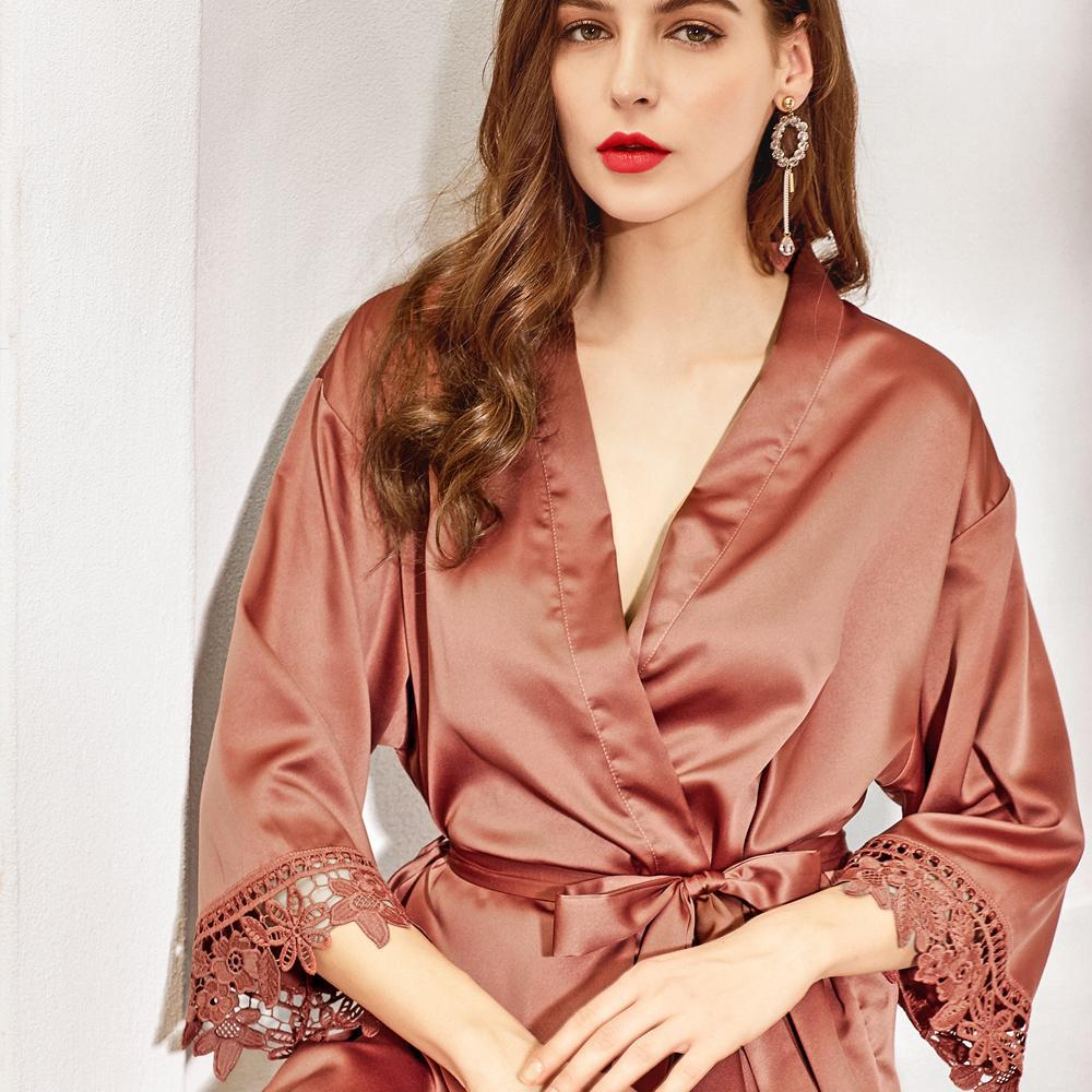 Rosie Lace Satin Robe