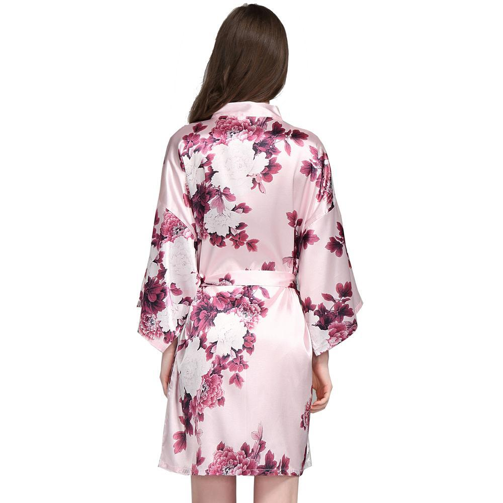 floral satin bridesmaid robes