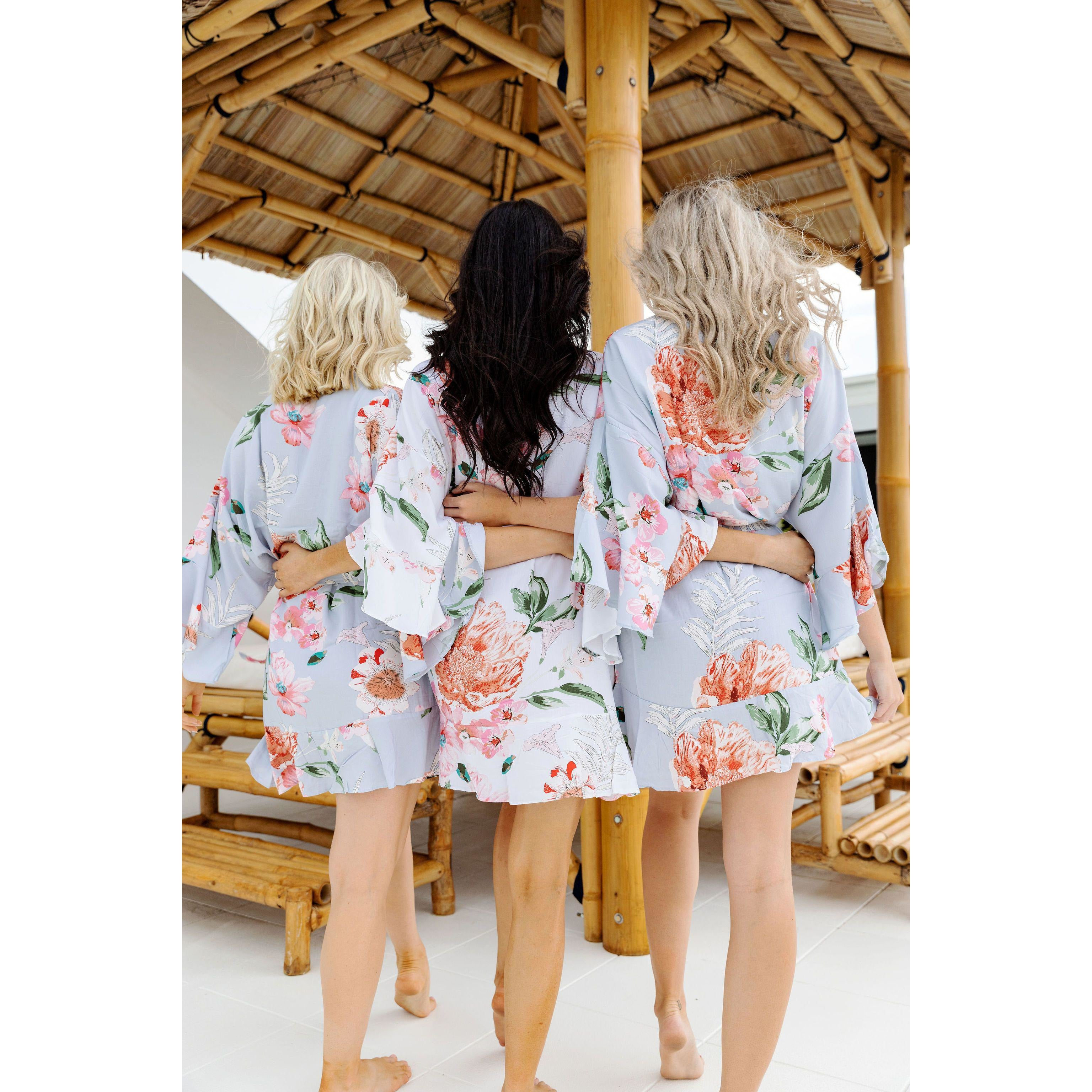 Cotton Floral Bridesmaid Robes