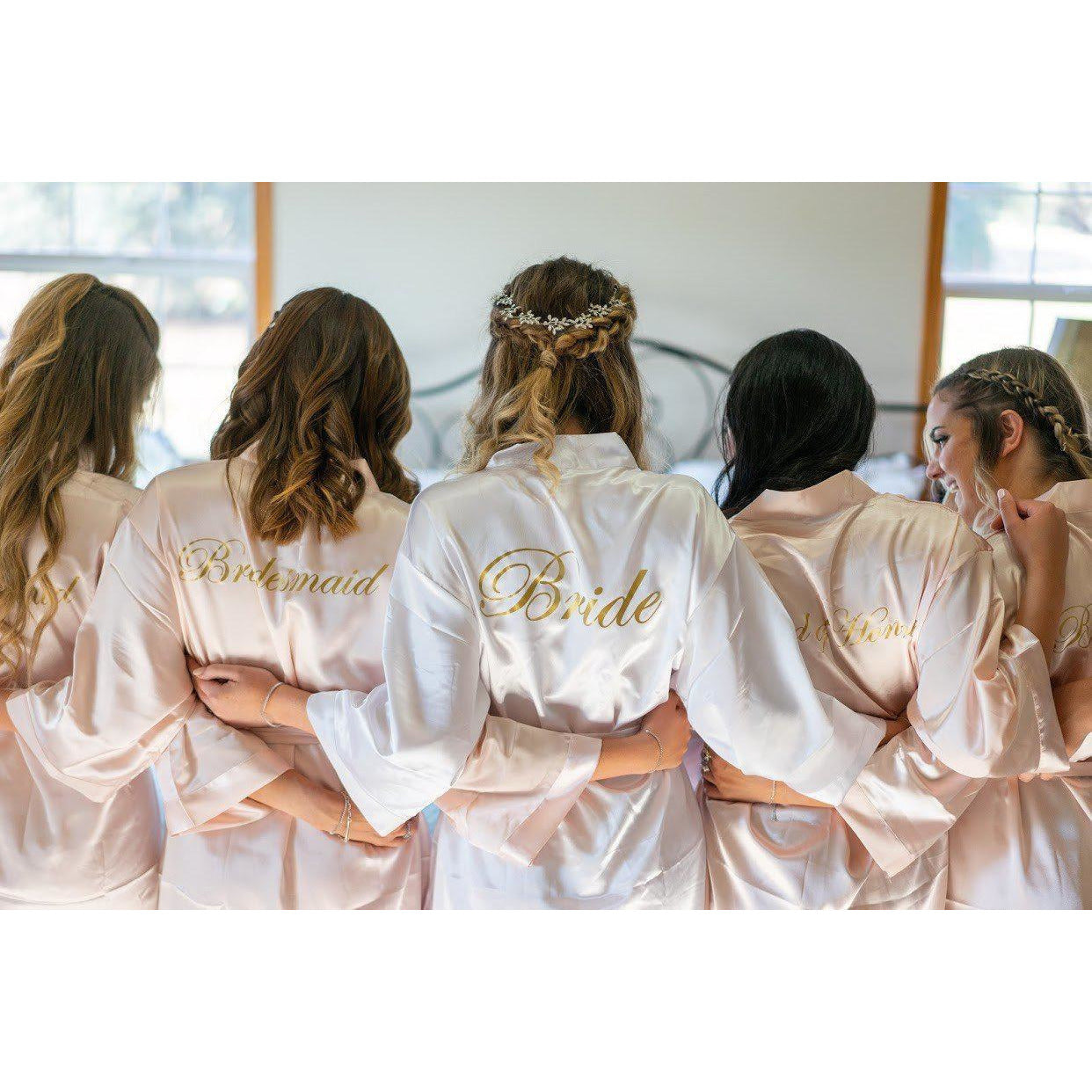 Classic Satin Bridesmaid Robes