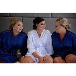 Personalised Bridesmaid Robes - Classic Satin - Bride Tribes