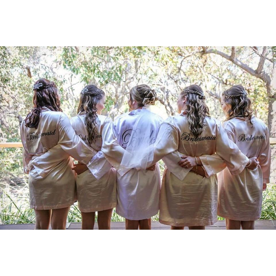 Classic Satin Bridesmaid Robes - Bride Tribes