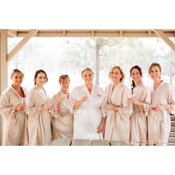 Plus size bridesmaid robes