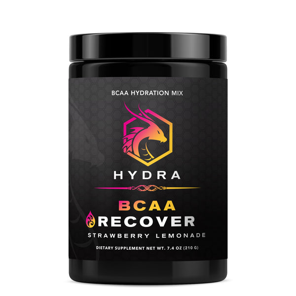 HYDRA RECOVER BCAA DRINK, STRAWBERRY LEMONADE