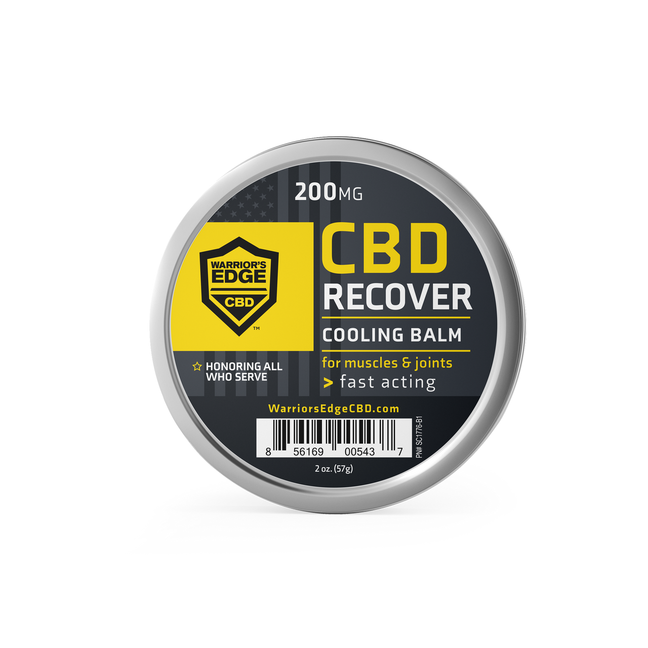 Warriors Edge Balm, 2oz tin (200mg CBD)