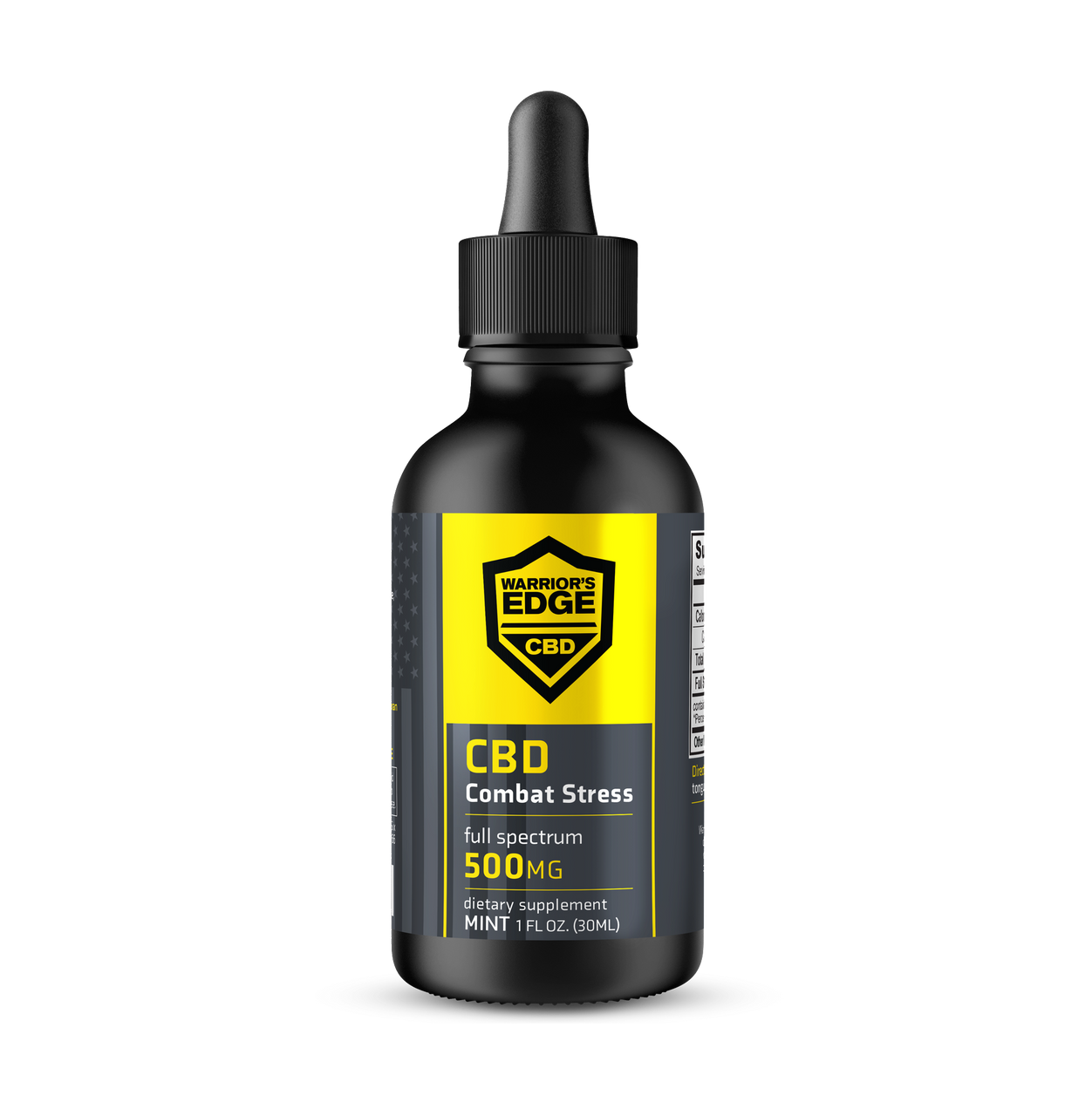 Combat Stress CBD Tincture (500mg CBD) - 1oz Bottle