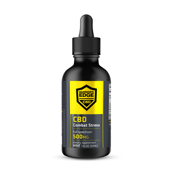 Combat Stress CBD Tincture (500mg CBD) THC FREE- 1oz Bottle