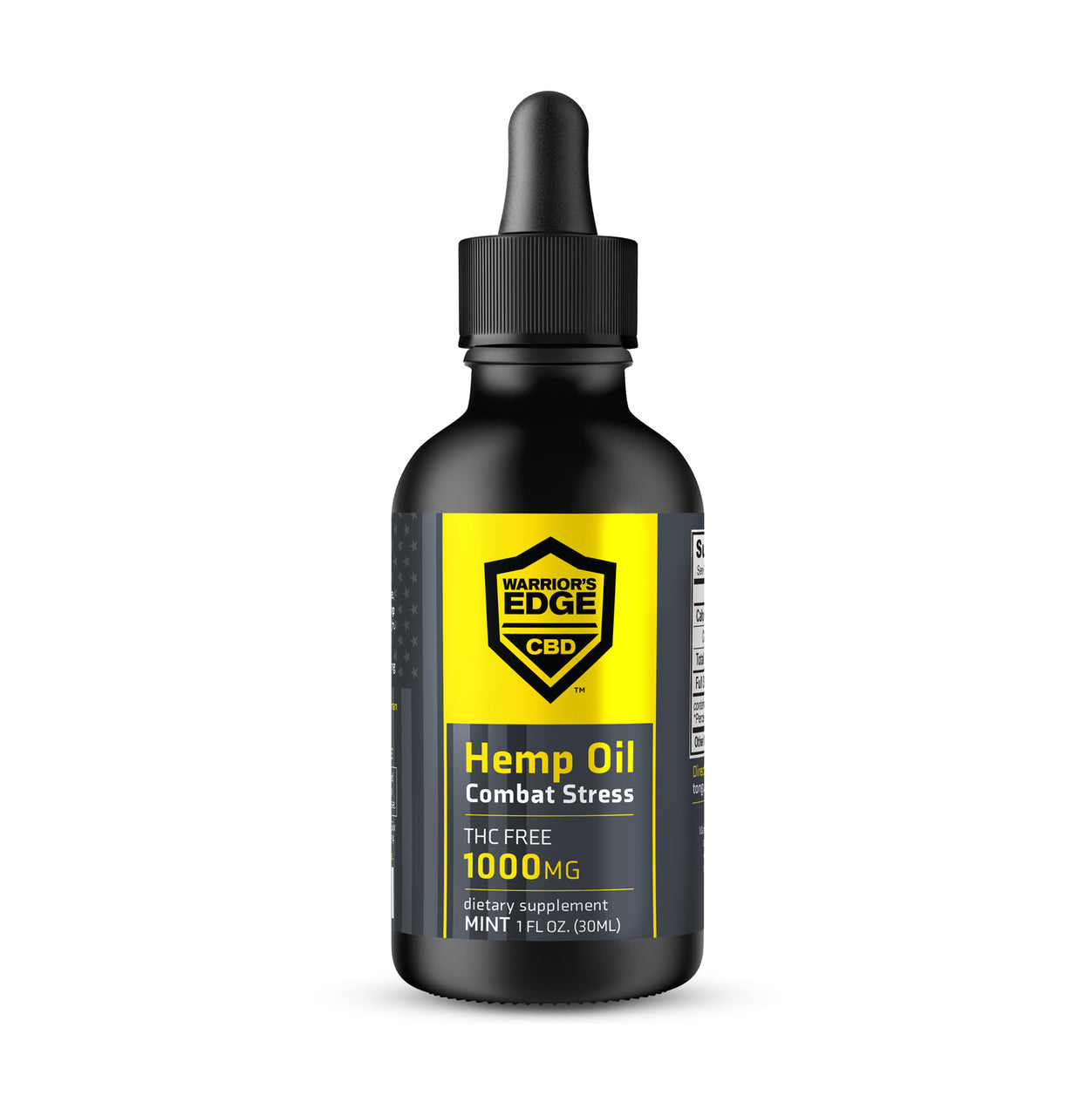Combat Stress CBD Tincture (1000mg CBD) THC FREE, Mint- 1oz Bottle