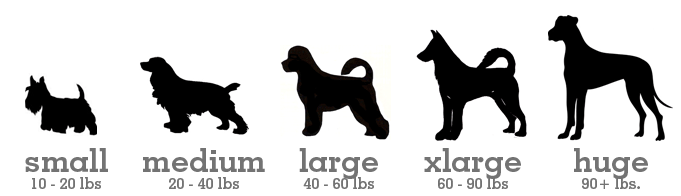 Antler Sizes for Dogs