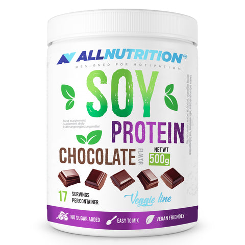 SOY PROTEIN Chocolate 500g Allnutrition - Predators Gear