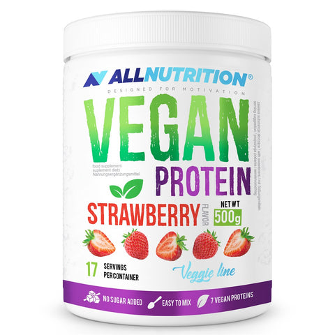 VEGAN PROTEIN Strawberry 500g Allnutrition - Predators Gear