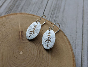 Tall trees - sterling silver pine spruce tree earrings