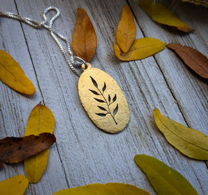 Gold Leaves Necklace - botanical jewelry