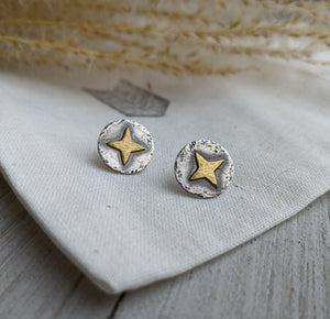 Polaris North Star Stud Earrings