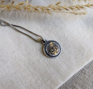 Tiny Galaxy Pendant - Keum Boo silver and gold