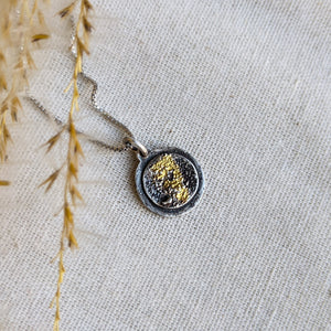 Tiny Galaxy Pendant II - Keum Boo silver and gold