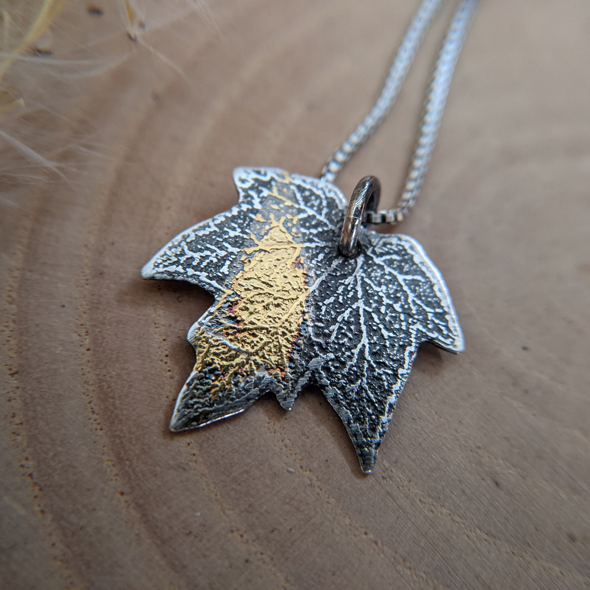 Maple Leaf - Keum Boo silver, gold