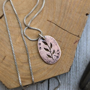 Copper Branch - botanical necklace