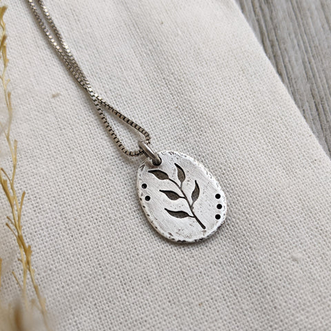 Silver Branch - botanical necklace