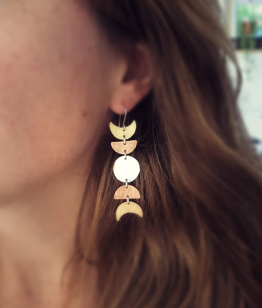 Moon Phase Earrings II