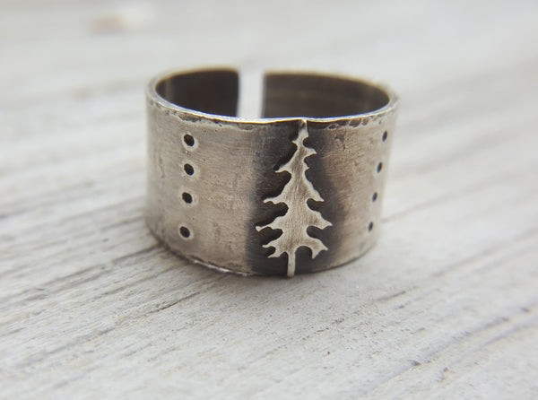 Lone Pine Ring - sterling silver