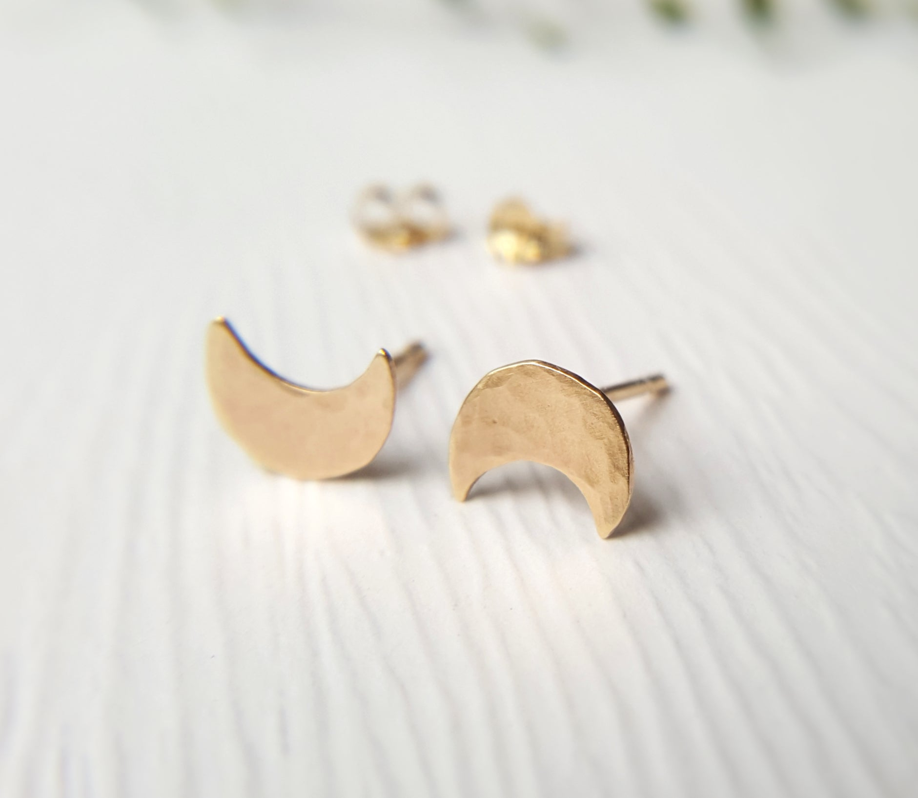Gold Moon Studs