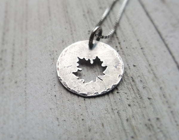 Maple Leaf Charm Pendant