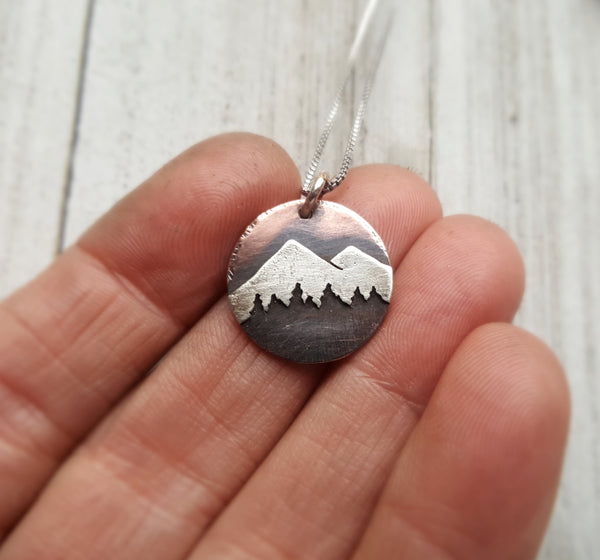 Mountain Treeline Pendant - small