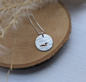 Silver Loon Necklace