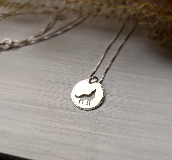 Howling Wolf Charm Necklace
