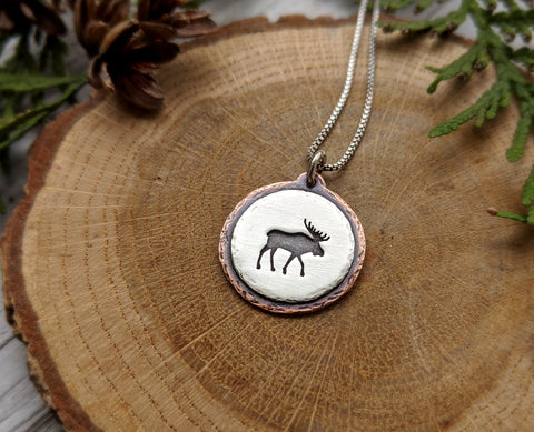 Moose -  Mixed Metal Necklace