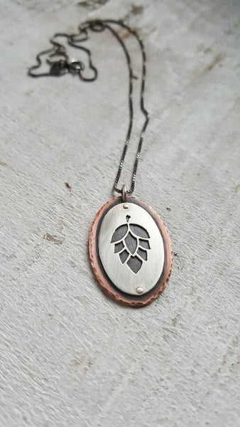 Hop Pendant - Craft Beer Necklace