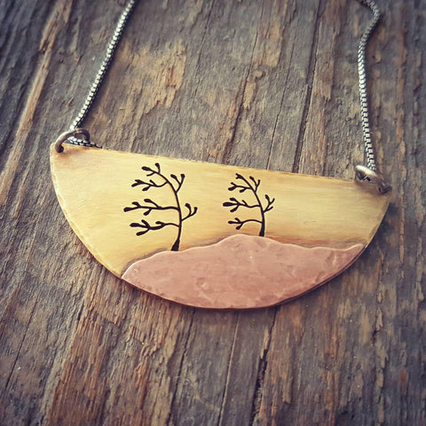 Windswept Pines - Algonquin Inspired Pendant Necklace