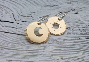 Sun and Moon Mismatched Earrings