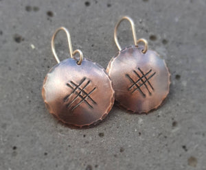 Wayward Copper Relic Earrings