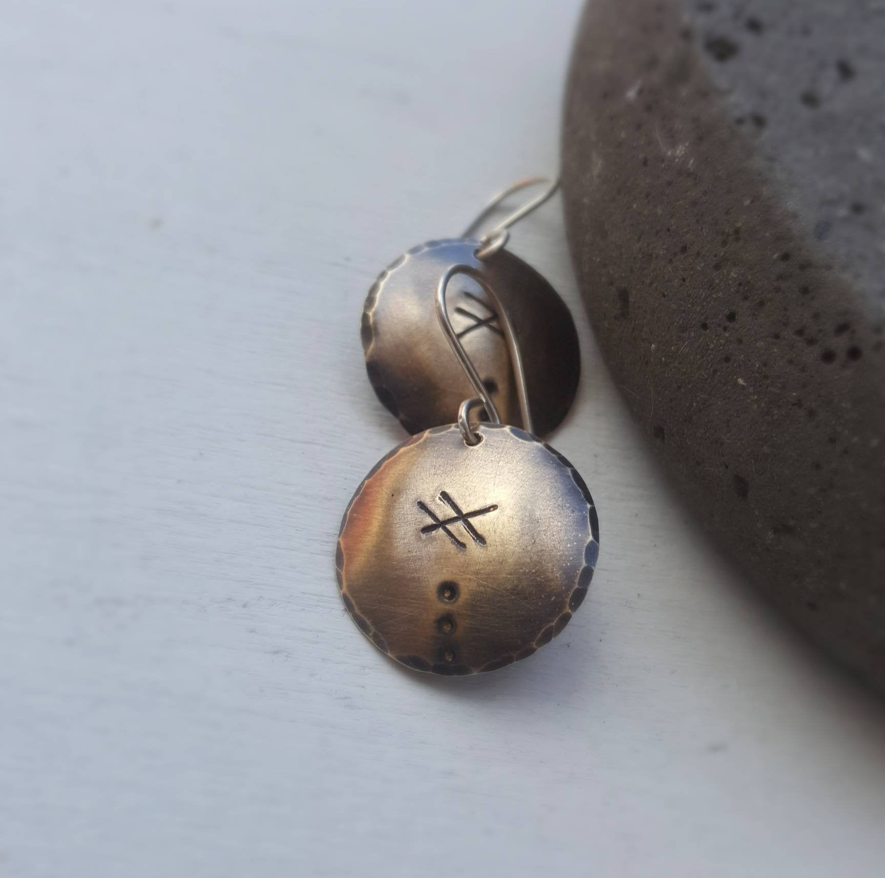 Brass Wayward Earrings - Boho disc earrings