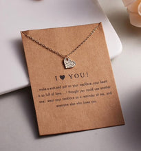 Load image into Gallery viewer, I Love You Gold Necklace on Card