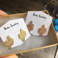 Cactus Metal Earrings