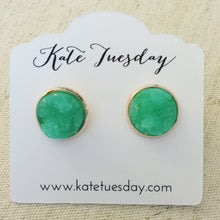 Load image into Gallery viewer, Miami Green Druzy Earrings