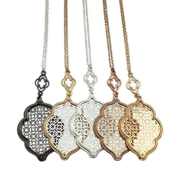 Thin Metal Filigree Lace Necklaces