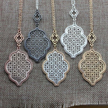 Load image into Gallery viewer, Thin Metal Filigree Lace Necklaces