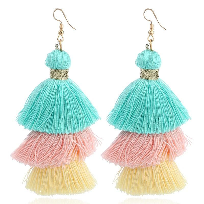 Pastel Summer Tassel Earrings