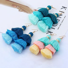Load image into Gallery viewer, Pastel Summer Tassel Earrings