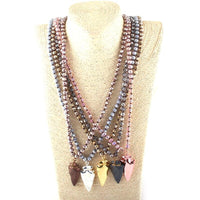 Tribal Arrowhead Statement Necklace PRE ORDER