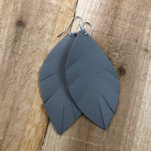 Load image into Gallery viewer, Feathered Ava Faux Leather Hang Earrings