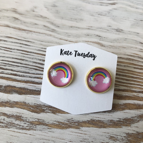 Summer Rainbow Stud Earrings