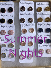 Load image into Gallery viewer, Summer Nights Druzy Earring Box Neutral Colors