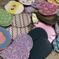 Easter Earring Leather Glitter Grab Bags
